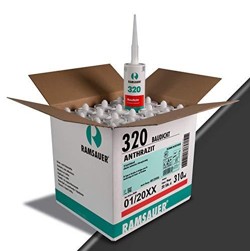 Ramsauer 320 Baudicht 1K Hybrid Dichtstoff, 20 Stück im Karton (Anthrazit)