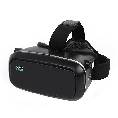 Aukey VR-O1 3D Brille Einstellbar Virtual Reality Kopfhörer schwarz