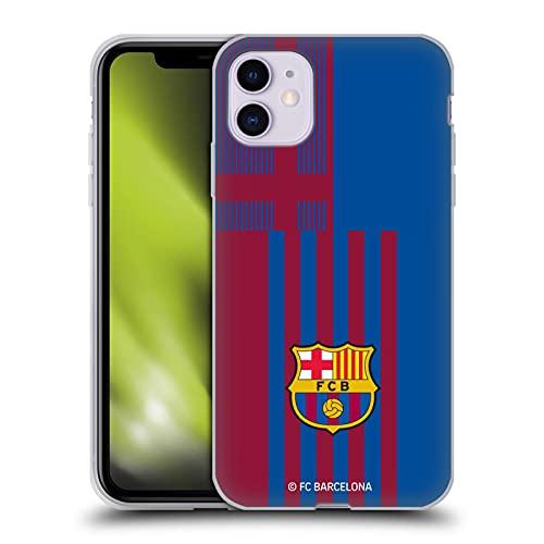 Head Case Designs Licenciado Oficialmente FC Barcelona Home 2021/22 Crest Kit Carcasa de Gel de Silicona Compatible con Apple iPhone 11