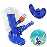 Aspirador de piscina, portátil Jet Pool Aspirador Subacuático con cepillos de fregado, bolsa de hojas para piscinas sobre el suelo, balnearios, estanques y bañera de hidromasaje