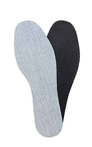 Anti Odor Insoles With Odor Eating Charcoal, Shoe Inserts, Kaps Odor Stop, All Sizes (44 EUR/US 11 Men)