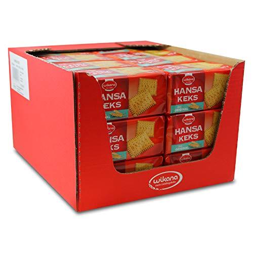 24er Pack Wikana Hansa Keks (24 x 200 g) Mürbekeks sehr knusprig goldgelb gebacken geeignet für Kalter Hund