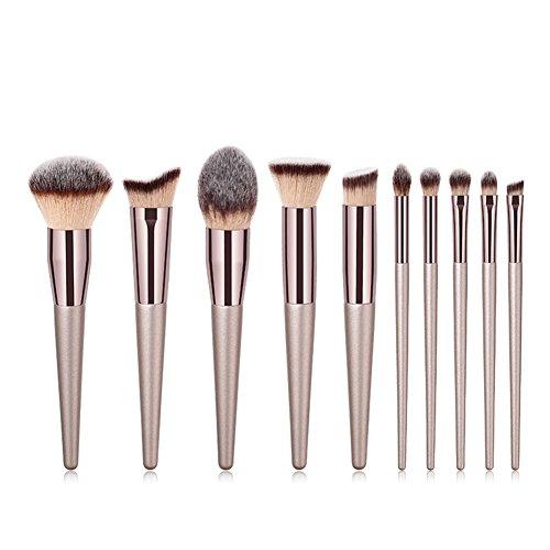 Dosige Beauté Pinceau de Maquillage Cosmétique Brosse Set Outils Foundation Brush 10 Pcs