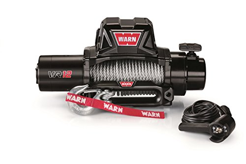 WARN 96820 VR12 12V Electric Winch with Steel Cable Rope: 3/8' Diameter x 80' Length, 6 Ton (12,000 lb) Capacity