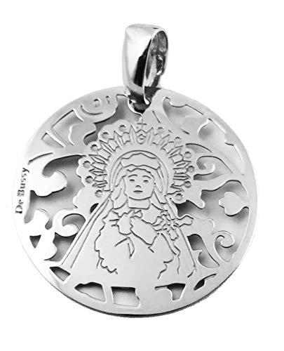 Medalla Virgen de los Dolores (Paso Azul de Lorca) en Plata de Ley