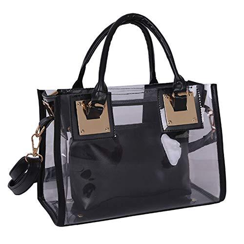 Rullar Lot de 2 sacs à main en PVC transparent pour femme