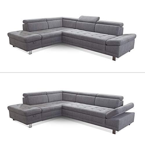 "Ecksofa günstig: Cavadore Sofa ""I"" in L-Form /   Ottomane Bild 4*"