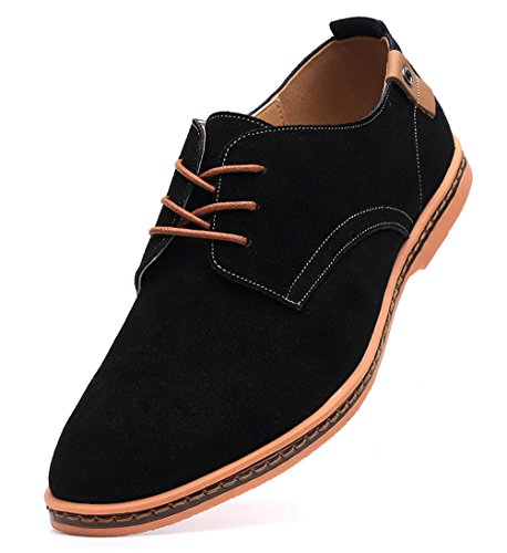 DADAWEN Men's Classic Suede Leather Oxford Dress Shoes Business Casual Shoes