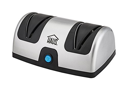 Haus Diamond Coated Electric Knife Sharpener Kitchen, Chef, Paring, Pocket Knives, 2 Stage, Stainless Steel