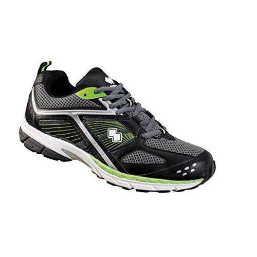 Zapato Errea Gimnasia Plaza Running Negro Plata Size: 40