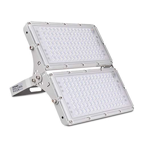 Bellanny 200W LED Strahler Außen, 20000LM LED Fluter, 6500K Kaltweiß Superhell LED Floodlight, IP65 Wasserdicht Scheinwerfer, 180°Rotations, für Garten, Garage, Sportplatz, Hotel ect