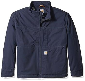 Carhartt Men s Flame-Resistant Full Swing Quick Duck Jacket Dark Navy Large