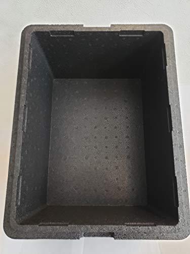 黒発泡スチロール×3箱(メダカの水槽、飼育に最適!)日本国内産 外寸 W43.2×D33.3×H24.5*蓋なし