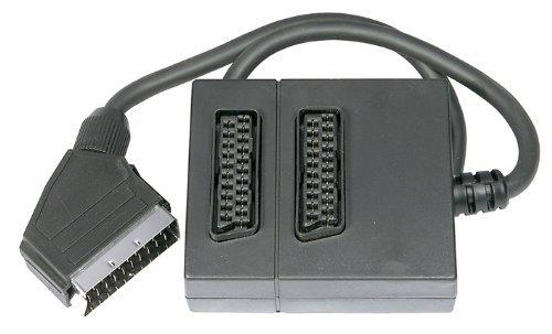 World of Data® Twin 2-Wege-Scart-Adapter Scart-Anschlusskabel Splitter Adapter Switch-Box
