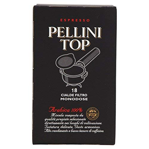Pellini Kaffee Espresso Top 100% Arabica, 18er Tabs Pads Cialde, 126 g