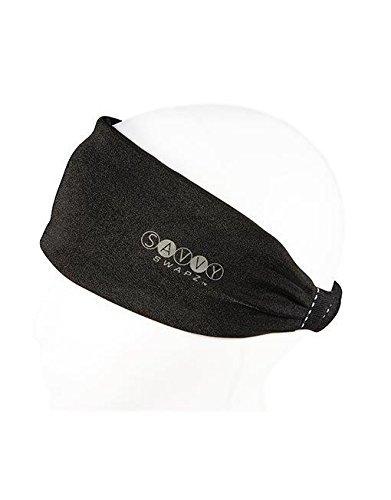 Savvy Swapz Fashion Fitness Moisture Wicking Headband Sweatband. Natural Hair Protection Black...
