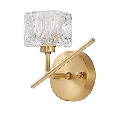 Cobre Lámpara De Pared,G9 2 Luz Moderno Apliques De Pared Oro Cepillado Latón Apliques Aplique Pared Desván Para Hotel Bar Dormitorio Cabecera-Cobre. 17x18cm(7x7inch)