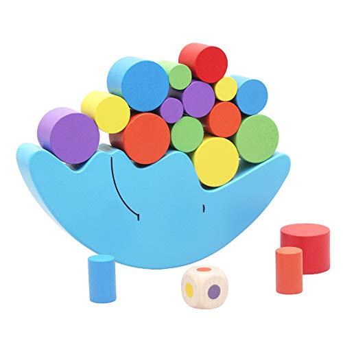 Gobus Gioco di Equilibrio Luna in Legno bilanciamento del Gioco Blocchi Giocattolo Costruzione Mattoni accatastamento Giochi Giocattolo educativo
