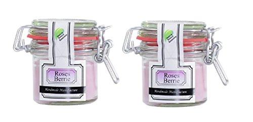 Parfüme Boutique 1101367rb Vintage Verre S Roses Berry Bougie parfumée dans Verre, Rose, 10 x 10 x 8,5 cm