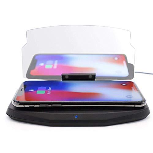 Nero Wireless Ricarica Universale Car Head Up Display HUD Immagine Riflettore Del Telefono Mobile Supporto GPS per Samsung S9 Plus Nero