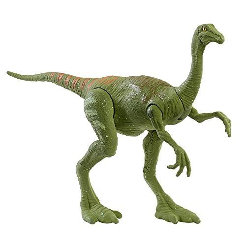 Jurassic World Fuerza Feroz Gallimimus Dinosaurio articulado, figura de juguete para niños (Mattel GWN37)