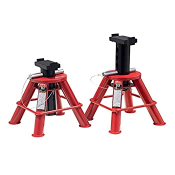 Sunex 1210 10-Ton Low Height Pin Type Jack Stands Pair