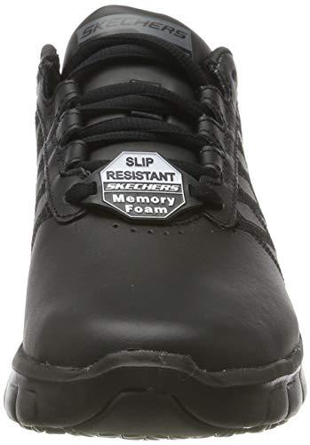 Skechers Sure Track-Erath-II, Zapatillas sin Cordones, Negro (BLK Black Leather), 36 EU