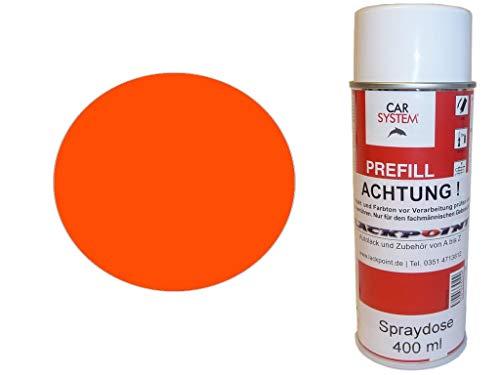 Spray de pintura para coche, 400 ml, 1 componente, RAL 2005, naranja fluorescente mate