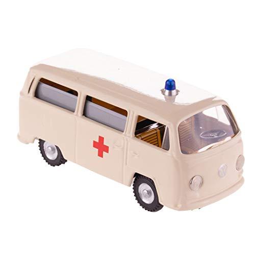 Retro blikken speelgoed - VW Bus model T2 ambulance Rode Kruis