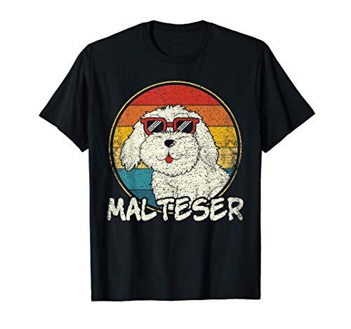 Vintage Malteser Hund | Retro Malteser| Hundebesitzer T-Shirt