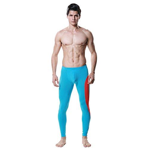 DESMIIT Men's Long Underwear Modal Size Medium Light Blue