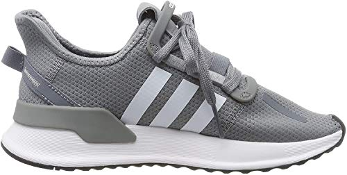 adidas Unisex-Kinder U_Path Run J Sneaker, Grau (Grey/Footwear White/Core Black 0), 38 EU