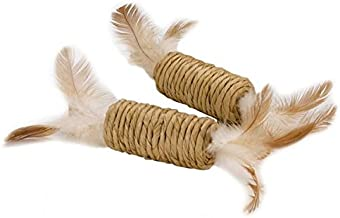 Petface Catkins Feather Roller Toy 2 Pack