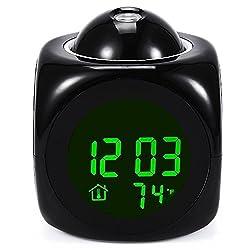 Multifunction Digital Clocks Vibe LCD Voice Talking Projection Time Temp Display Alarm Clock