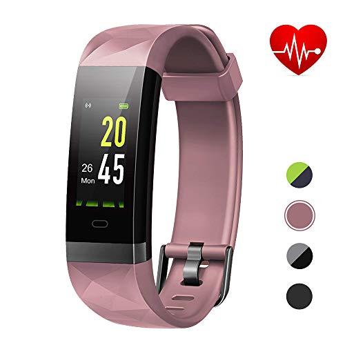 Lintelek Pulsera Inteligente con GPS, Smartwatch Impermeable IP68 para Natación, Pulsera Actividad con Pulsómetro, Podómetro, Monitor de Sueño para Hombre, mujuer y niño