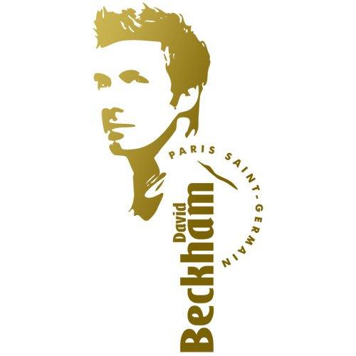 Sticker David Beckham Or 24x50 cm