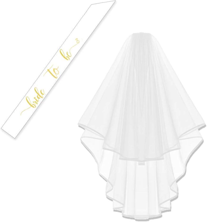 Bachelorette White Double Ribbon Edge Wedd Center Cascade favorite Bridal New mail order