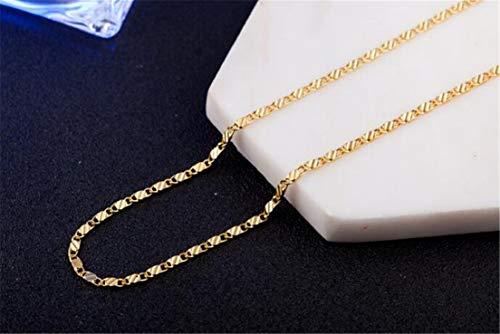 LOSOUL - Collana placcata in oro 18 K, con catena a maglie larghe, da uomo, donna, gioiello alla moda, 50,8 cm