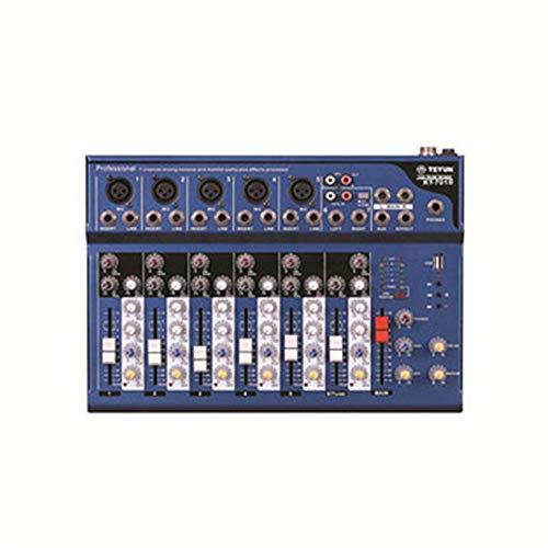 DJ Controller Power Mixer 7-Kanal reine Bühnen Mixer Bühnen Outdoor Performance Conference Audio mit MP3 Bluetooth Reverb Live-Mixer-Unterstützungs-USB / SD-Karte All-In-One Deck DJ Controller für Ser