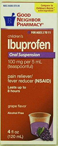 GNP Children's Ibuprofen Oral Suspension Grape Flavor - 100 mg per 5 ml Teaspoonful - For Ages 2 to 11