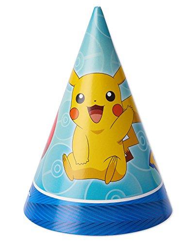 American Greetings Pokemon Pokémon 2 Party Hats, 8-Count