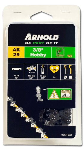 Arnold Sägekette 3/8 Zoll Hobby, 1.3 mm, 54 Treibglieder, 40 cm Schwert 1191-X1-5054