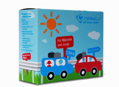 Minimus - Wegwerf Urinal 5 Stück, Taschen WC für Kinder, Taschen Örtchen, Einweg Toilette,