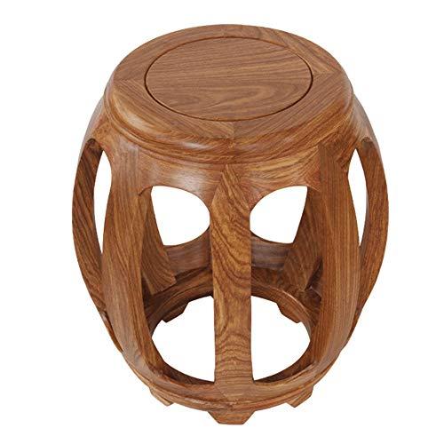 Taburete de bar, taburete de tambor de madera de sándalo rojo erizo, banco chino antiguo, taburete guzheng, taburete de mesa de centro de madera maciza en la sala de estar, taburete de mesa de co
