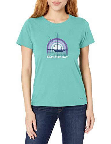 Life Is Good Crusher Strand-/Ozean-T-Shirt, für Damen, Aquamarinblau, Größe XXXL