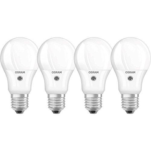 Osram 4052899959835 LED STAR Sensor Culot E27 5,0 W Blanc Lot de 4