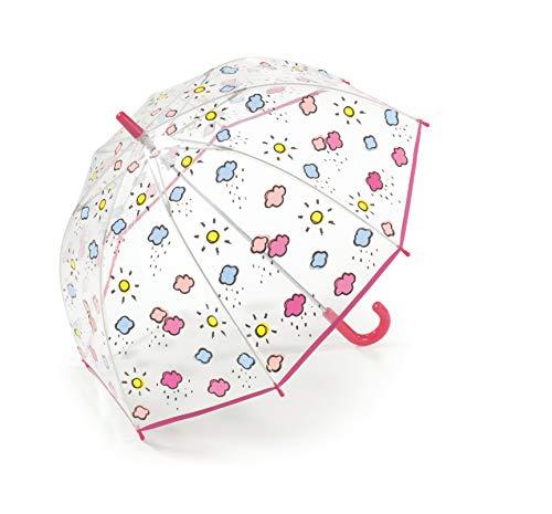 Benetton Kinder Regenschirm Stockschirm durchsichtig transparent Mädchen