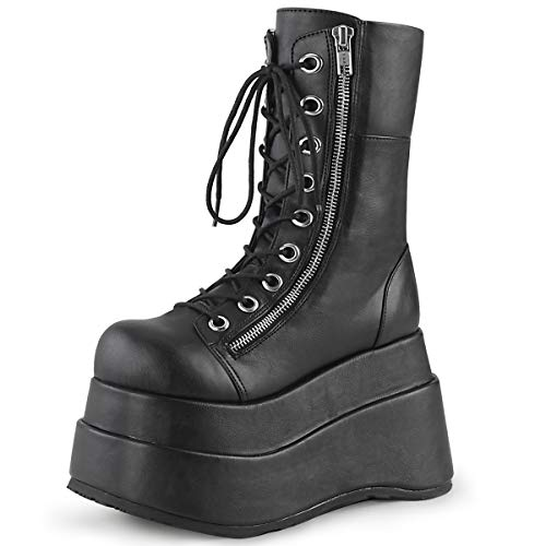 Demonia Damen Boots Bear-265 Kunstleder schwarz Gr.39