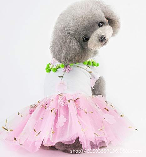 SUNXK Huisdier kleding hond rok puppy zomerjurk hond kleding 2019 nieuwe zomerspot, S, Plum skirt powder
