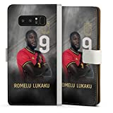 DeinDesign Klapphülle kompatibel mit Samsung Galaxy Note 8 Duos Handyhülle aus Leder weiß Flip Hülle RBFA Offizielles Lizenzprodukt Fußballer